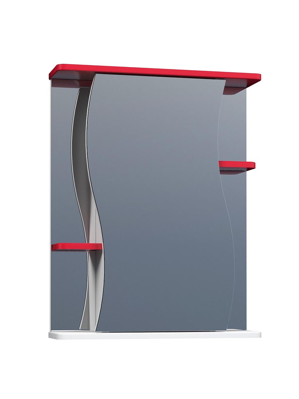 Зеркальный шкаф Alessandro 3-550 красный
