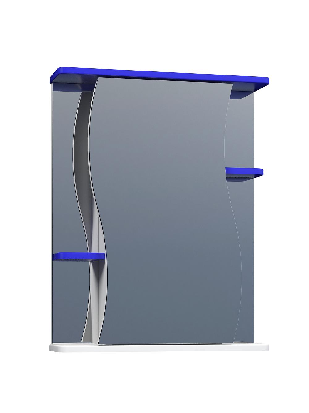 Зеркальный шкаф Alessandro 3-550 синий