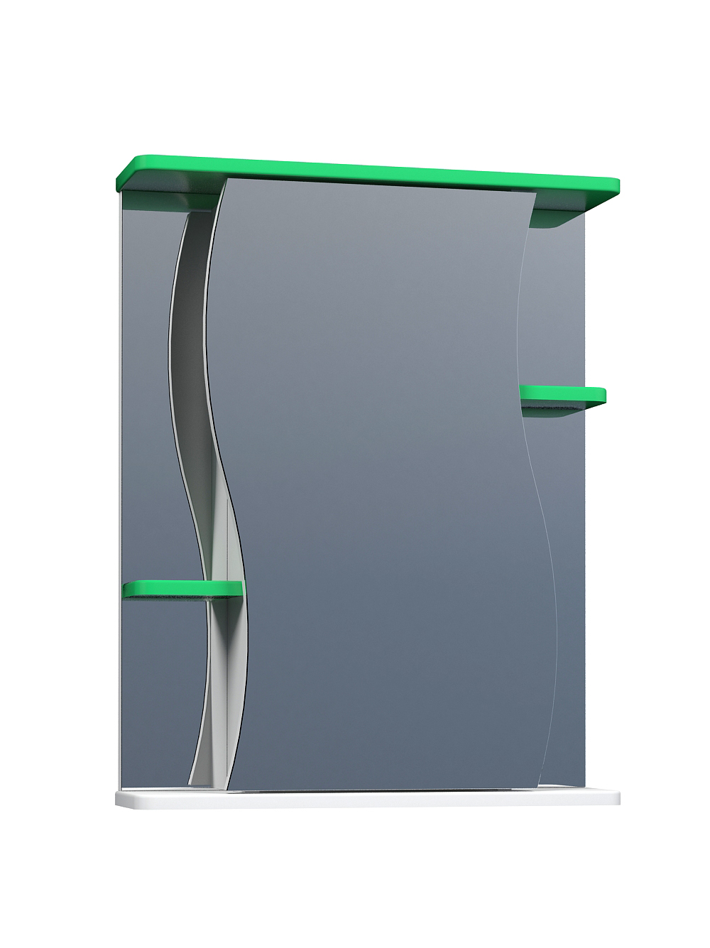 Зеркальный шкаф Alessandro 3-550 зеленый